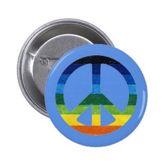 peace simbol rainbow pins