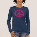 PEACE SÍMBOLO - signo de paz, símbolo libertad Playera De Manga Larga