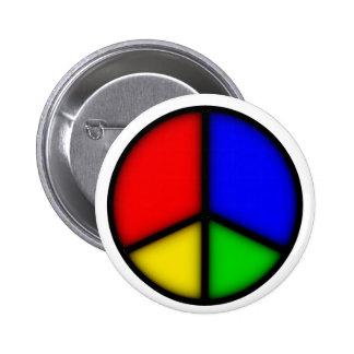 peace simple button