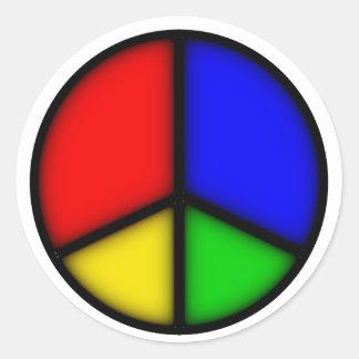 peace simple classic round sticker