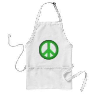 peace simple gloom adult apron