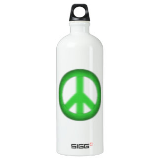 peace simple gloom aluminum water bottle