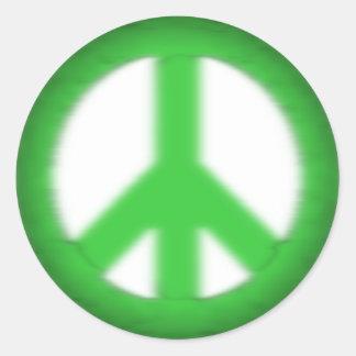 peace simple gloom classic round sticker