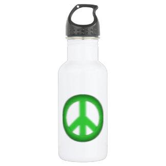 peace simple gloom stainless steel water bottle