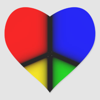 peace simple heart sticker