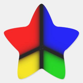 peace simple star sticker