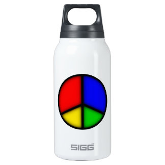 peace simple thermos water bottle