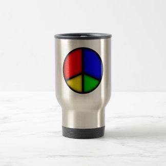 peace simple travel mug