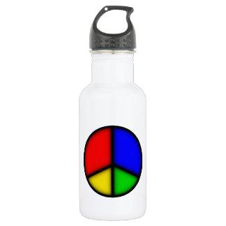 peace simple water bottle