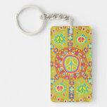 Peace Single-Sided Rectangular Acrylic Keychain