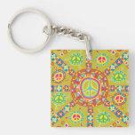 Peace Single-Sided Square Acrylic Keychain