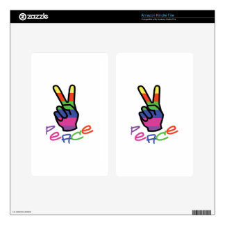PEACE KINDLE FIRE DECALS