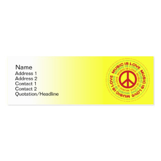 Peace  - Skinny Double-Sided Mini Business Cards (Pack Of 20)