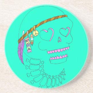 Peace Skull Beverage Coasters