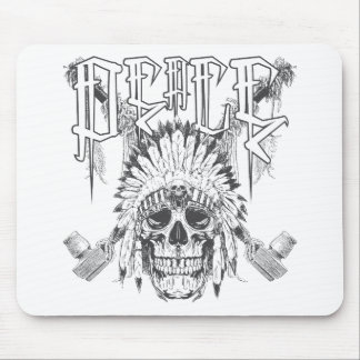 Peace Skull Mouse Pad