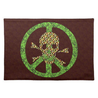 Peace Skull Cloth Placemat