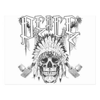 Peace Skull Postcard
