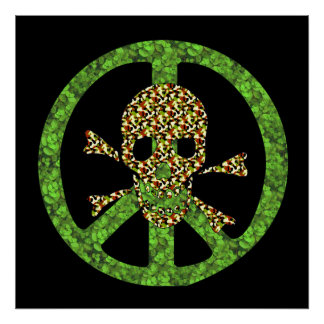 Peace Skull Print
