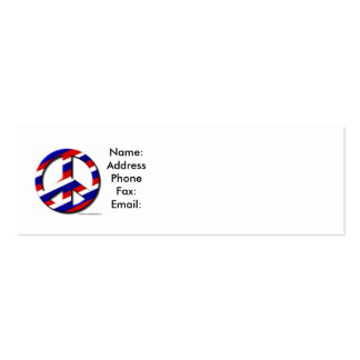 peace-sm, Name:AddressPhoneFax:Email: Double-Sided Mini Business Cards (Pack Of 20)