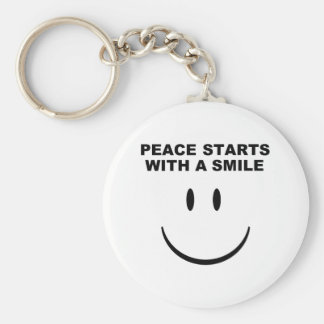 Peace Smile Key Chain