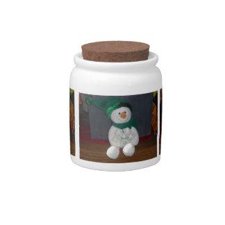 Peace Snowman Candy Jar