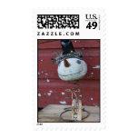Peace Snowman Stamp