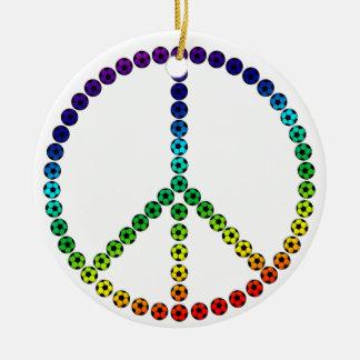 Peace Soccer Christmas Ornaments