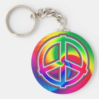 Peace Spiral Keychain