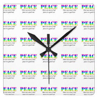 Peace Square Wall Clock