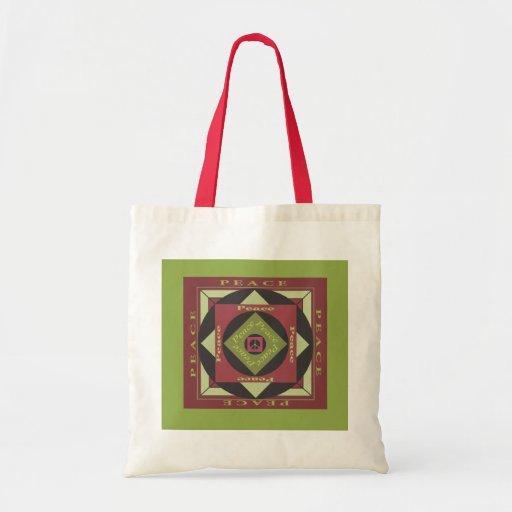 Peace Squared Tote Bag