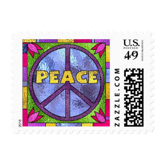 Peace Stained Glass Postage