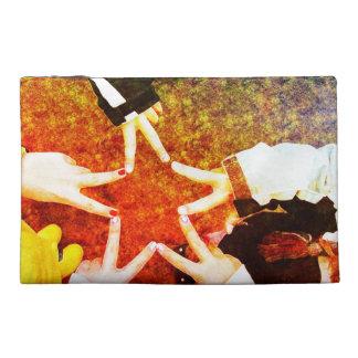 Peace Star - Artistic Friendship Fingers Travel Accessory Bag
