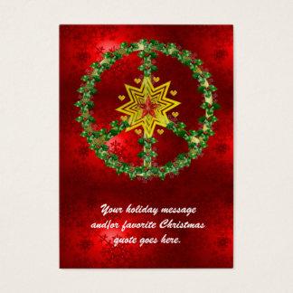 Peace Star Christmas Business Card