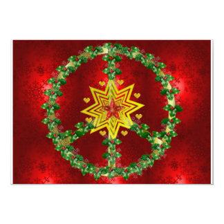Peace Star Christmas Card