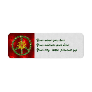Peace Star Christmas Custom Return Address Label