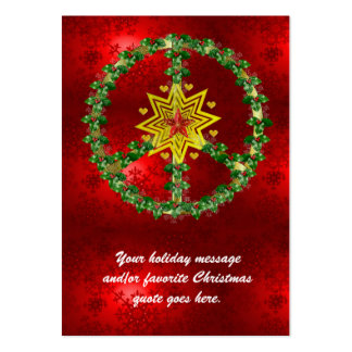Peace Star Christmas Large Business Card
