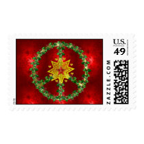 Peace Star Christmas Postage