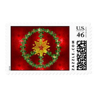 Peace Star Christmas Stamp