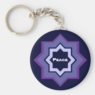 Peace Star Design Keychain