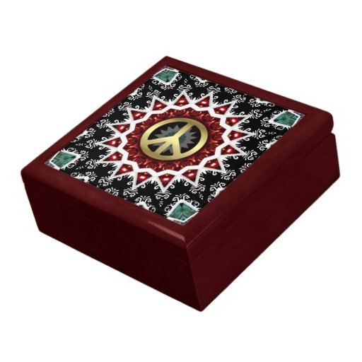 Peace Star Flame Circle Lacquered Gift Box