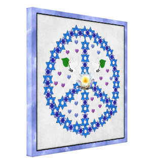 Peace Star Of David Canvas Print