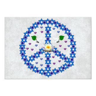 Peace Star Of David Card