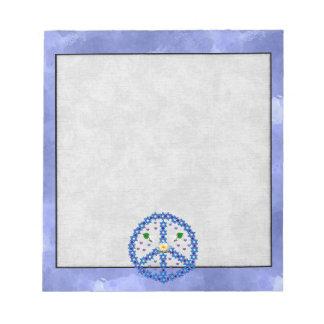 Peace Star Of David Note Pad