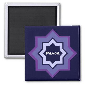 Peace Star Pattern Refrigerator Magnet