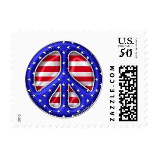 Peace Stars Flag-1B Postage