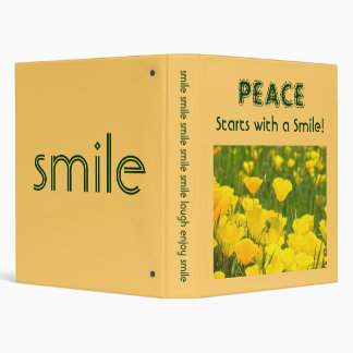 Peace starts with a SMILE binder Orange Poppies