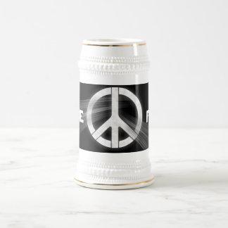 PEACE stein 18 Oz Beer Stein