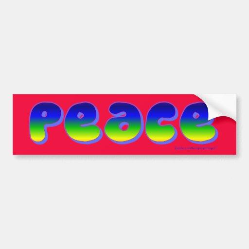 Peace Sticker 2 Bumper Sticker