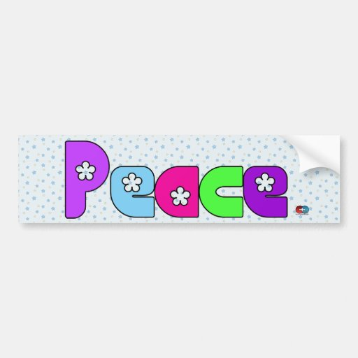 Peace Sticker 3 Bumper Stickers