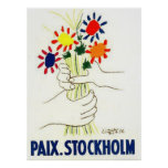 Peace Stockholm poster Poster